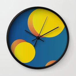 Geometric Minimalist Abstract Modern 8 - the solar system Wall Clock