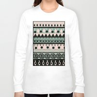 nordic Long Sleeve T-shirts featuring PASTEL NORDIC TRIBAL  by Nika