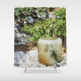 Japanese garden 6 Shower Curtain