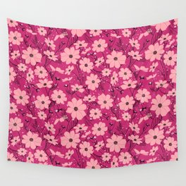 Cosmea pink Wall Tapestry