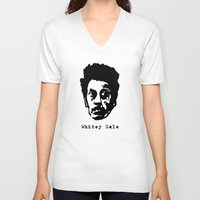 sale V-neck T-shirts featuring Whitey Sale by Jon Spagnola