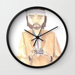 Richie Tenenbaum Watercolor Wall Clock