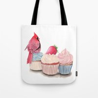 cupcakes Tote Bags featuring Cupcakes by Cisternas