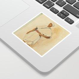 """Eugène Delacroix """"A standing Moroccan"""" Sticker"""