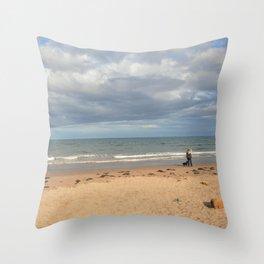Cocklawburn Beach Throw Pillow