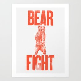 Bear Fight Art Print