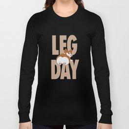 Leg Day Doggie Long Sleeve T-shirt