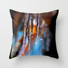 Warm stalactites Throw Pillow
