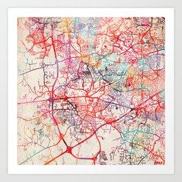 Apex map North Carolina NC Art Print