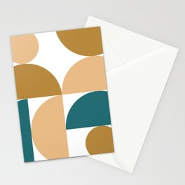 modern geo jewels – gold, peach, turquoise Stationery Cards