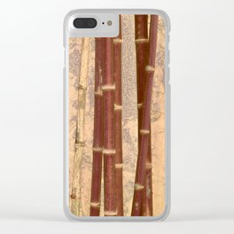 Vintage Bamboo Design #buyart #society6 Clear iPhone Case
