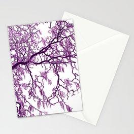 purple tree XXVII Stationery Cards