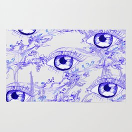 Abstractive Eye Ink Rug
