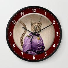Grand Viceroy Leopold Leopard Wall Clock