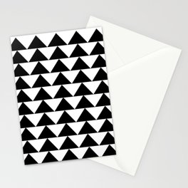 Black & White Triangles Stationery Cards