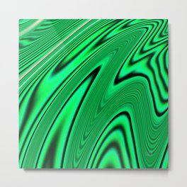 Abstract Fractal Colorways 03 Malalchite  Metal Print