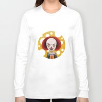 pennywise Long Sleeve T-shirts featuring Pennywise Cheese by ajd.abelita