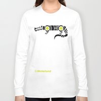 crocodile Long Sleeve T-shirts featuring Crocodile by Hinterlund