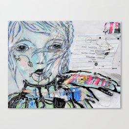 Stitched Girl Canvas Print