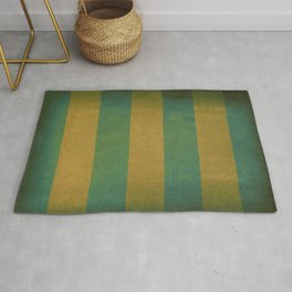 Vintage striped deck chair cover Rug