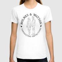 emma watson T-shirts featuring holmes and watson stamp by Emma Harckham