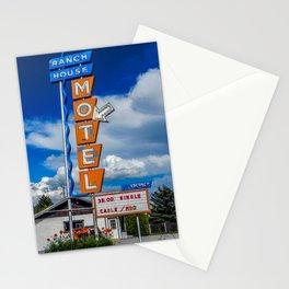 The Ranch House Motel, Vintage Motel Signs, Bozeman, Montana Stationery Cards