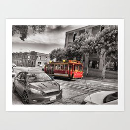 Chinese New Year Cable Cars - San Francisco Art Print