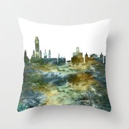 Albany City Skyline Throw Pillow