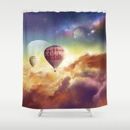 clouds,sky and ballons Shower Curtain