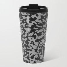 Comp Camouflage Pattern / Black Metal Travel Mug