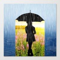umbrella Canvas Prints featuring Umbrella by Cs025
