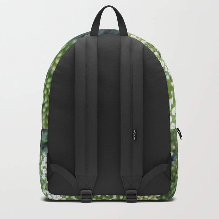 green wild flowers Backpack