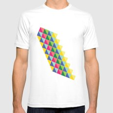 boxed MEDIUM Mens Fitted Tee White