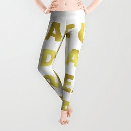 Wake Up and Make Your Dreams Come True in Dark Gold Leggings
