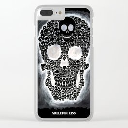 Black Skull Clear iPhone Case