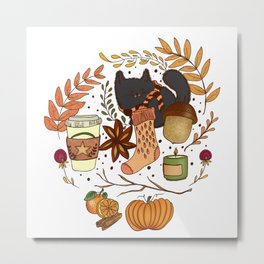 autumn essentials Metal Print
