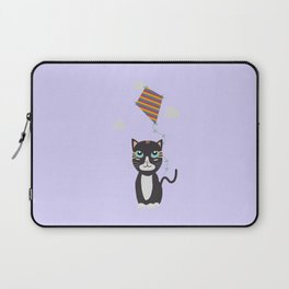 Cat with Kite Laptop Sleeve