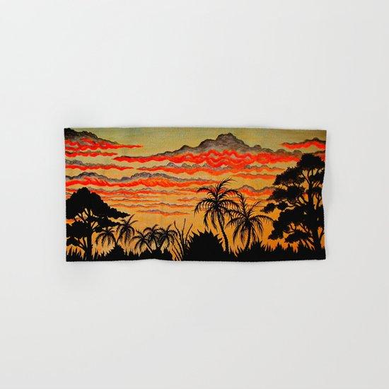 tropical sunset Hand & Bath Towel