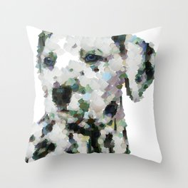 Dalmatian  puppy portrait discover Art Print Throw Pillow