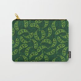 Pea pod seamless green pattern Carry-All Pouch