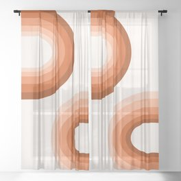 Sooky Sooky - retro minimal 70s style vibes rainbow minimalist 1970's color palette Sheer Curtain