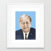 jfk Framed Art Prints featuring JFK by Javier Jaen