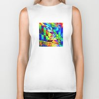 illusion Biker Tanks featuring Illusion. by Assiyam
