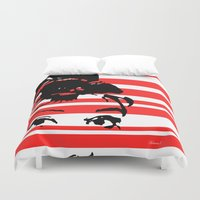 audrey Duvet Covers featuring Audrey by NoMoreWinters