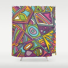 Colourful Chaos Shower Curtain