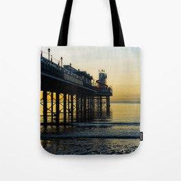 Paignton Pier At Sunrise Tote Bag