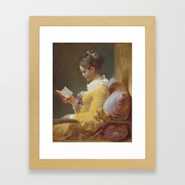 Jean Honoré Fragonard Young Girl Reading c. 1769 Painting Framed Art Print