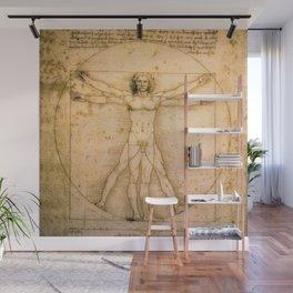 Vitruvian Man by Leonardo da Vinci Wall Mural