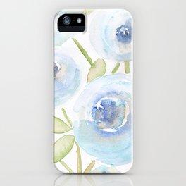 Watercolor Blues iPhone Case