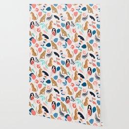 Tropical girls and Cheetah Wallpaper